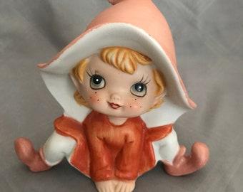 Vintage Homco Pixie Elf shelf sitter figurine