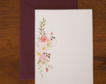 Lay-Flat Floral Greeting Card