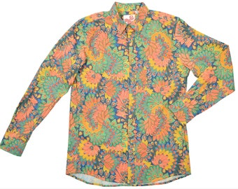 Crazy Print Shirt | Floral Print Shirt Mens | Festival Shirt | Summer Shirt | Hawaiian Shirt | Bright Top | Men's Shirt | Crazy Print
