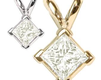 0.33 Carat White Diamond Pendant in 14k Gold
