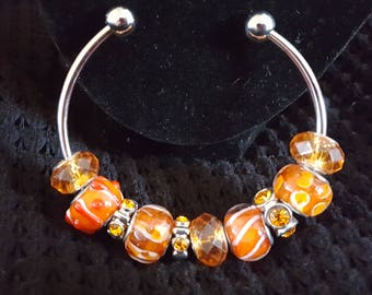 Orange Delight, beaded bracelet, beaded jewelry