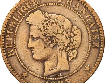 france cérès 10 centimes 1883 paris f(12-15) bronze km815.1 gadoury265a