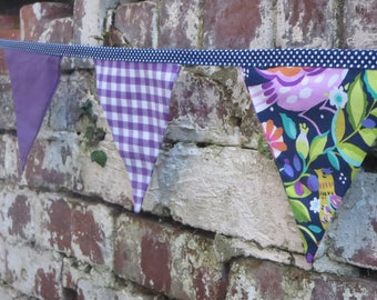Purple and Blue Bunting for you