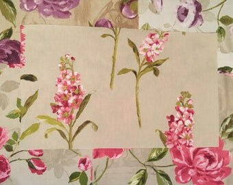 X5 Upholstery Flower Fabric Textile Patches 100% Cotton 55cm by 33cm
