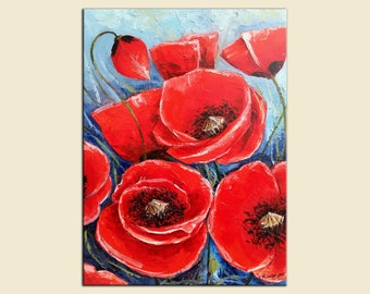 Poppies    60x80cm   oil on canvas