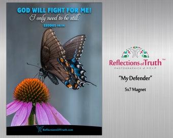 Scripture Magnet | Christian Gifts | Bible Verse | Birthday Gift | Home Décor | Encouragement Gift | Motivational Magnet | Exodus 14:14