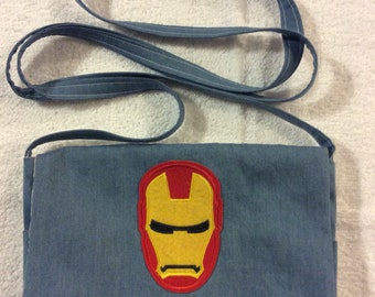 Avengers Iron Man Denim Over the Shoulder Purse