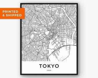 Tokyo Map Print, City Map Print, Town Map Print, Map of Tokyo, Tokyo Print, Tokyo Wall Art, Japan Print, Map Poster, City Map Poster