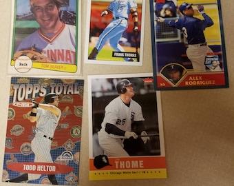 Five Baseball Cards