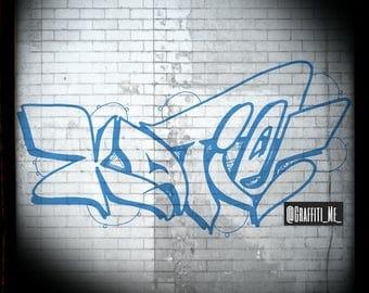 Katie  -  Custom Graffiti Name Sign, Graffiti Art Canvas Print, Personalized Canvas Wall Art, Abstract Graffiti Canvas