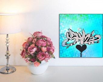 Yumi  -  Custom Graffiti Name Sign, Graffiti Art Canvas Print, Personalized Canvas Wall Art, Abstract Graffiti Canvas