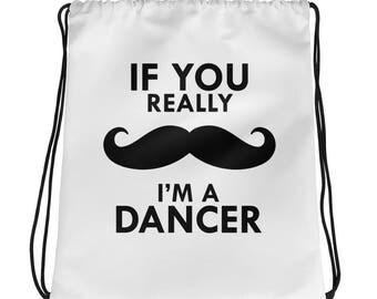 Mustache Dancer- Drawstring bag - Dance