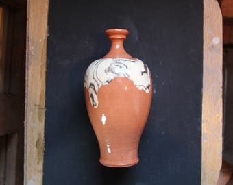 Ceramic bottle 10 Mokume gane