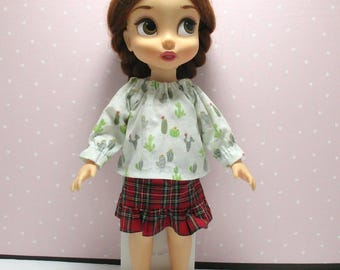 disney animator doll clothes/ Cactus blouse