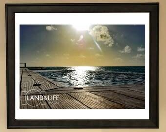 Midday Sun Ocean Lustre Print