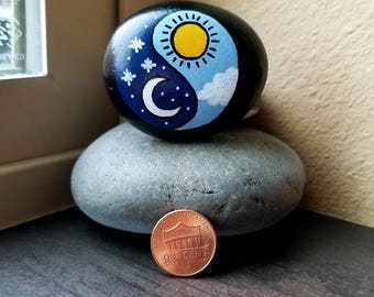 Ying-yang Night and Day (Rock Painting)