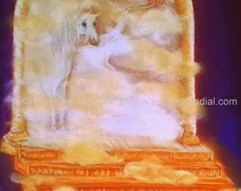 Beyond the veil-beyond the veil original artwork pastel painting 40 x 50 cm