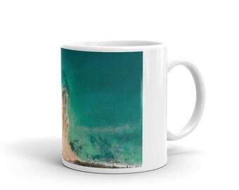 Cup | Mug | Print | Drone Photography | Beach landscape | Home Decor|  'Jetski on Point'