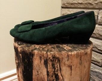 Forest Green Vintage Nine West shoes, Size 7