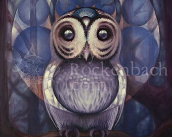 Owl Watcher, 12x16 Canvas