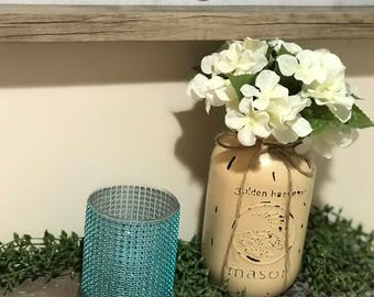 Turquoise Bling Rhinestone Candle Holders | Tea Light Candle Holders Set of 2