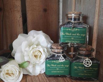 Witches magical black salt for protection