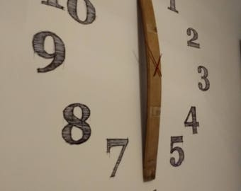 Wall clock with a barrel stave