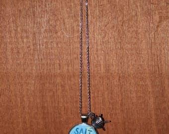 Salt life pendant necklace