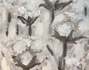 Cotton 12x12 acrylic on stretched canvas