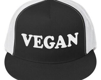 Vegan Trucker Cap Unisex Ladies Mens Cute Vegan Hats Funny Vegan Cap