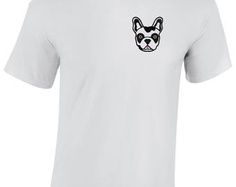 French bulldog embroidered t shirts - Choose your frenchie colour!