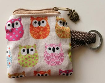 Key ring with owls, key ring with owls, purse with owls, purse with owls, purse owl, Key ring Owl
