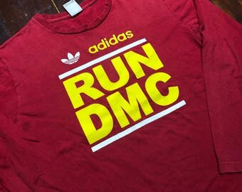 Vintage Adidas X RUN DMC Long Sleeve T-Shirt size S-M