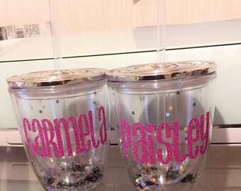 Personalized Confetti Cup