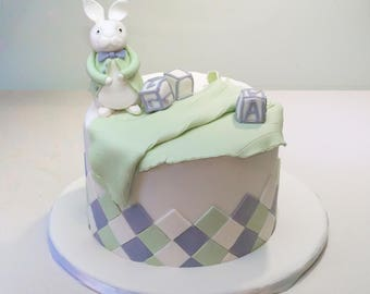 Peter Rabbit Edible Fondant Topper