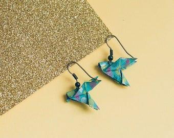 Earrings origami doves