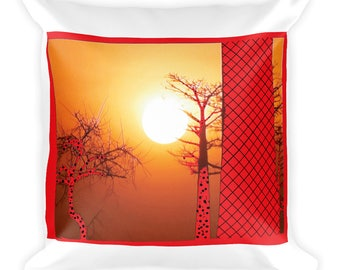 Square Pillow: Sunset
