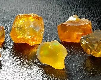 50.00 Unheated & Natural Orange Opal Rough Stone Lot