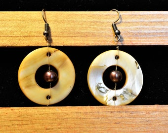 Shells and Pearls Drop Earrings