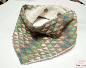 Bandana bib - printed Triangles