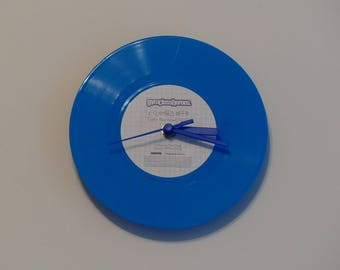 "Gym Class Heroes - Clothes Off | Blue 7"" Vinyl Record Clock"