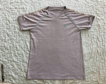 Vintage HANG TEN 80s Poly-Cotton Yellow Label V Neck T-Shirts Surf Hawaii Mambo
