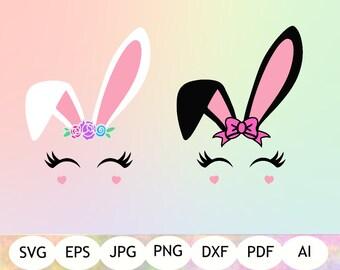 Bunny Face SVG, Bunny Face Clipart, Bunny Face Printable, Digital Download