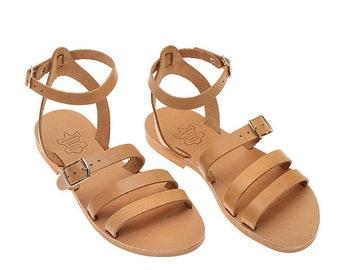 Sandals, Leather Sandals,Greek Sandals,Handmade Sandals,Easter Gift,Strappy Sandals,Ankle Wrap Sandals