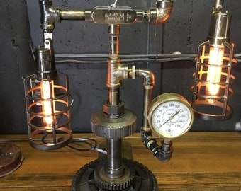 Classic 2 Bulb Steam Punk Lamp