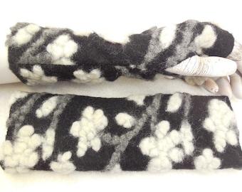 3D flower wool gloves arm warmers