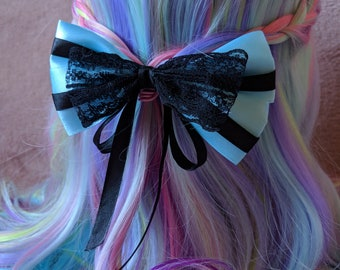 Blue/Black Hair bow