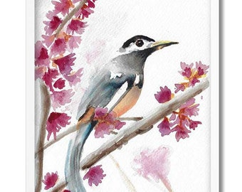 "Bird - Art Print - Watercolor print - ""Morning Song"""