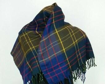 Rare!! Vintage 90s scarves/muffler nice design 100% wool