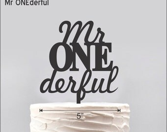 Mr. ONEderful Cake Topper